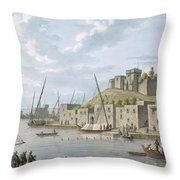 Castle In The Island Of Tortosa, 1805 Throw Pillow