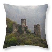Castle In The Mountains. Throw Pillow