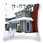 Castle In The Snow Throw Pillow