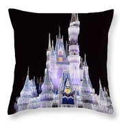 Castle In Winter Throw Pillow