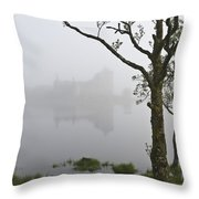 Castle Kilchurn Tree Throw Pillow
