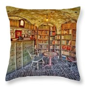 Castle Map Room Throw Pillow
