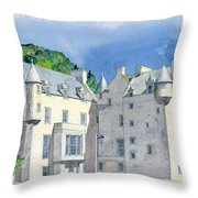Castle Menzies Throw Pillow