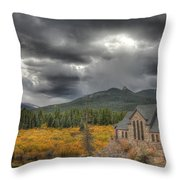 Castle Of Colors Throw Pillow