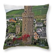 Castle Of The Rhine Throw Pillow