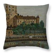 Castle Of Vyborg Throw Pillow