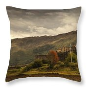 Castle On A Hill Kyle Of Lochalsh Throw Pillow