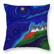 Castle On The Cliff By Jrr Throw Pillow