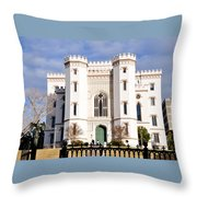 Castle On The Hill Throw Pillow