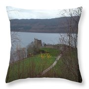 Castle On The Loch Throw Pillow