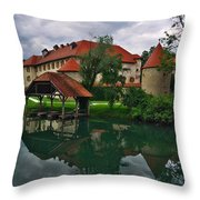 Castle Otocec Throw Pillow