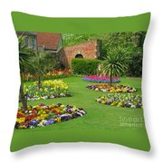 Castle Park Gardens  Throw Pillow