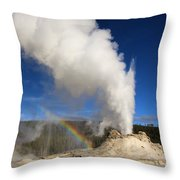 Castle Rainbow Throw Pillow