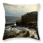 Castle Rock At Marblehead Throw Pillow