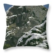 104619-castle Rock In Winter Dress Throw Pillow