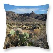 Castle Rock Mountain Throw Pillow