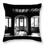Castle Room With Chair Bw Throw Pillow