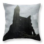 Castle Ruin Throw Pillow