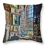 Castle Saloon Throw Pillow