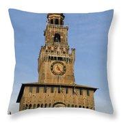 Castle Sforzesco Milan Throw Pillow