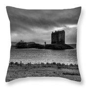 Castle Stalker Bw Throw Pillow