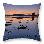 Loch Laich And Castle Stalker Throw Pillow