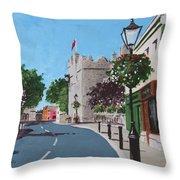 Castle Street Dalkey Throw Pillow