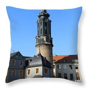 Castle Tower And Castle Weimar Throw Pillow