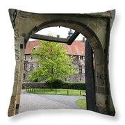 Castle Vischering Archway Throw Pillow