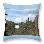 Castle Wall Walk Throw Pillow