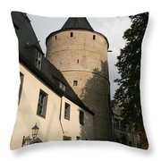 Castle Yard Throw Pillow
