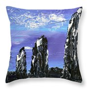 Castlenalact Standing Stones Throw Pillow