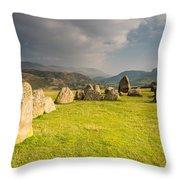 Castlerigg Circles Inner Chamber Throw Pillow