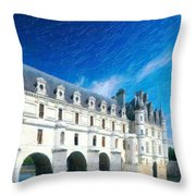 Castles Of France Throw Pillow