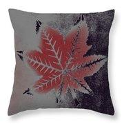 Castor Leaf Throw Pillow