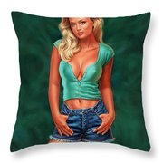 Casual Beauty Throw Pillow