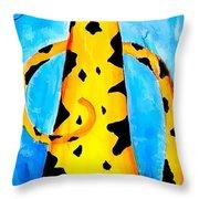 Cat 648 - Marucii Throw Pillow by Marek Lutek