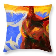 Cat Abstract Art Throw Pillow by Pixel Chimp