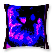 Cat Abstract Throw Pillow