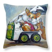 Cat C5x 190312 Throw Pillow by Selena Boron