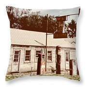 Cat Cabins And Gas Station Throw Pillow