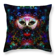 Cat Carnival Throw Pillow by Klara Acel