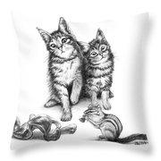 Cat Chips  Throw Pillow