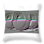 Cat Eyes - Embossed Throw Pillow