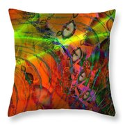 Cat Eyes Throw Pillow