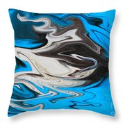 Abstract Cat Fish Throw Pillow