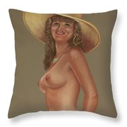 Cat In A Hat Throw Pillow