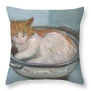 Cat In Casserole  Throw Pillow
