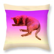 Even If Your Little Cat Is Resting In Space Or In Heaven She Still Loves You  Throw Pillow
