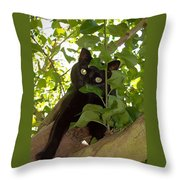 Cat In Tree Throw Pillow